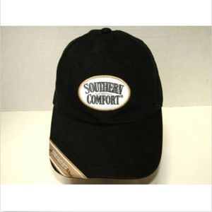 Southern Comfort Black Strap Back Hat 100% Cotton